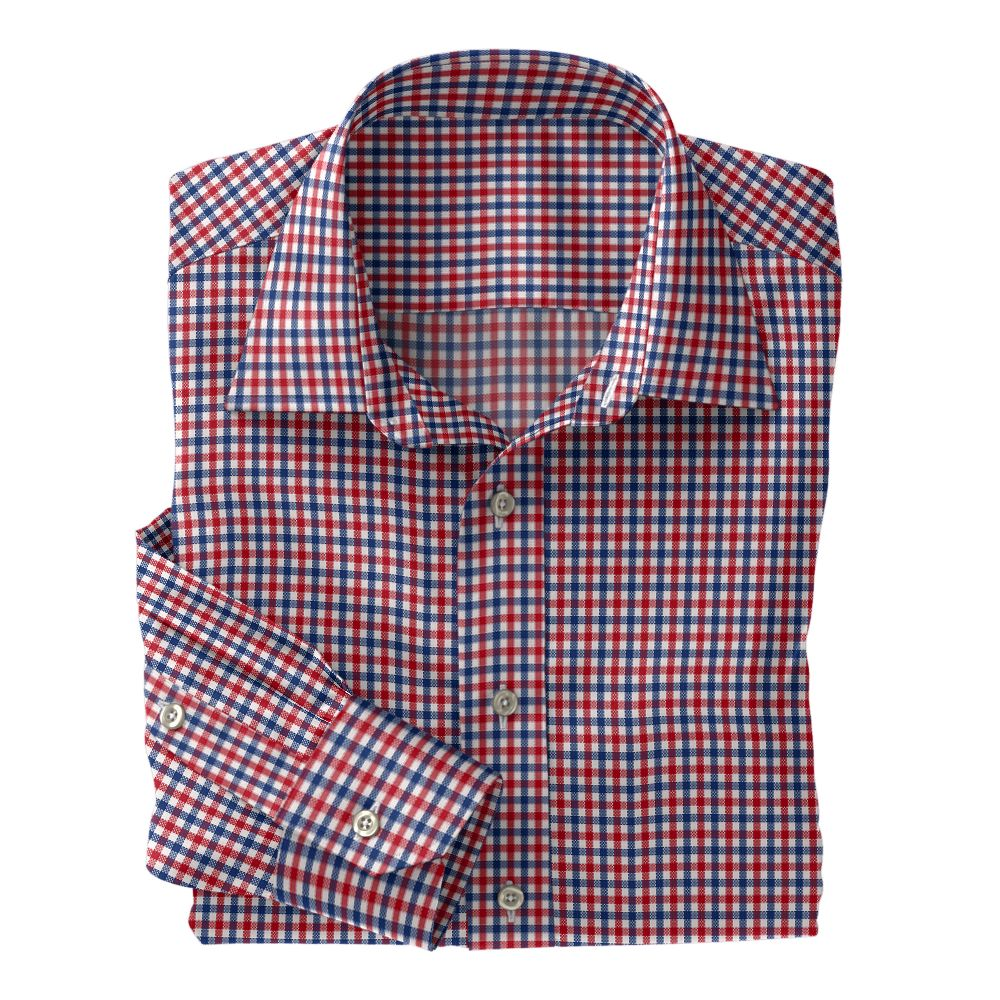 Red and Blue Check Oxford