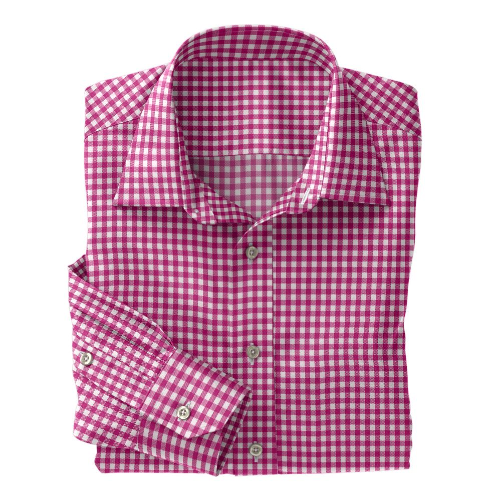 Pink Check Oxford