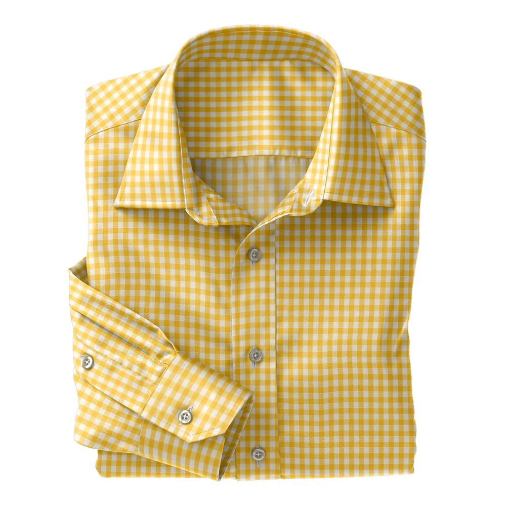 Yellow Check Oxford