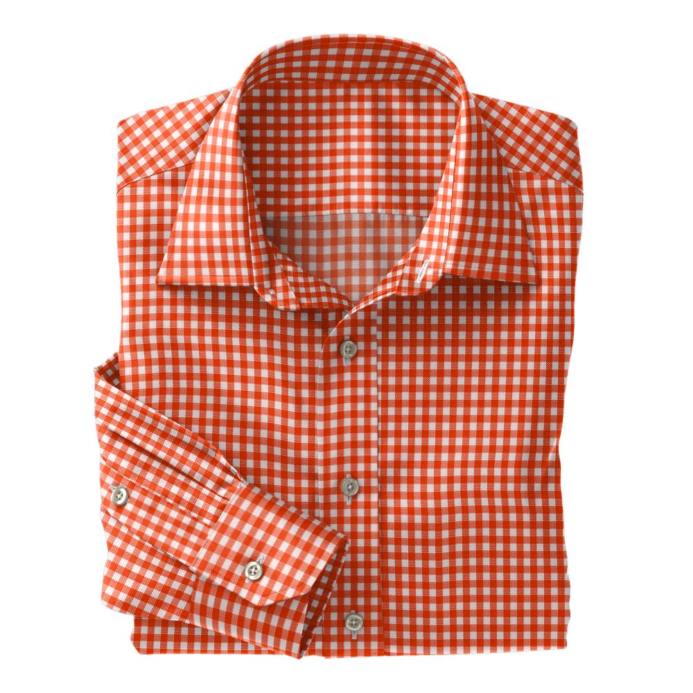 Orange Check Oxford
