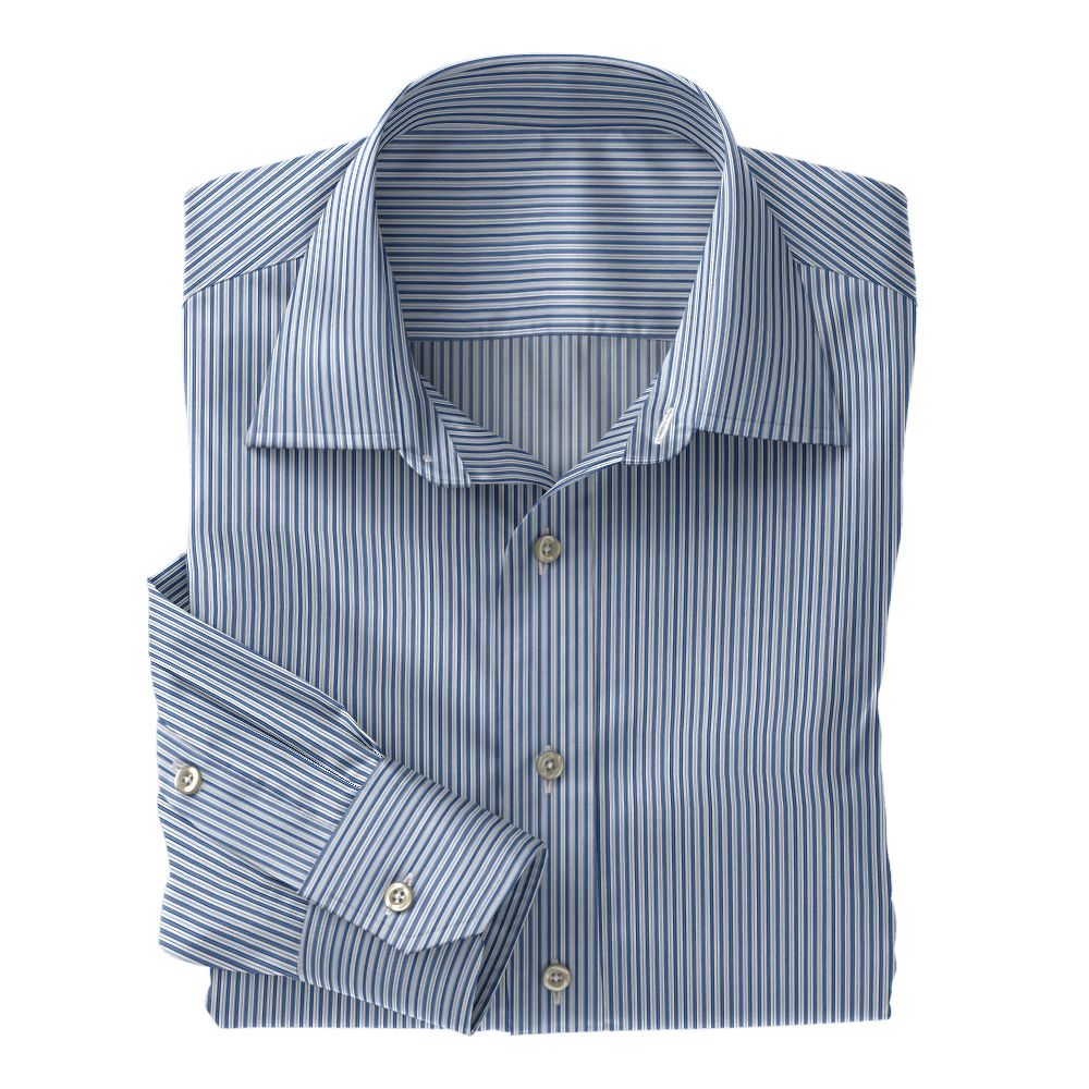Blue Stripe Poplin