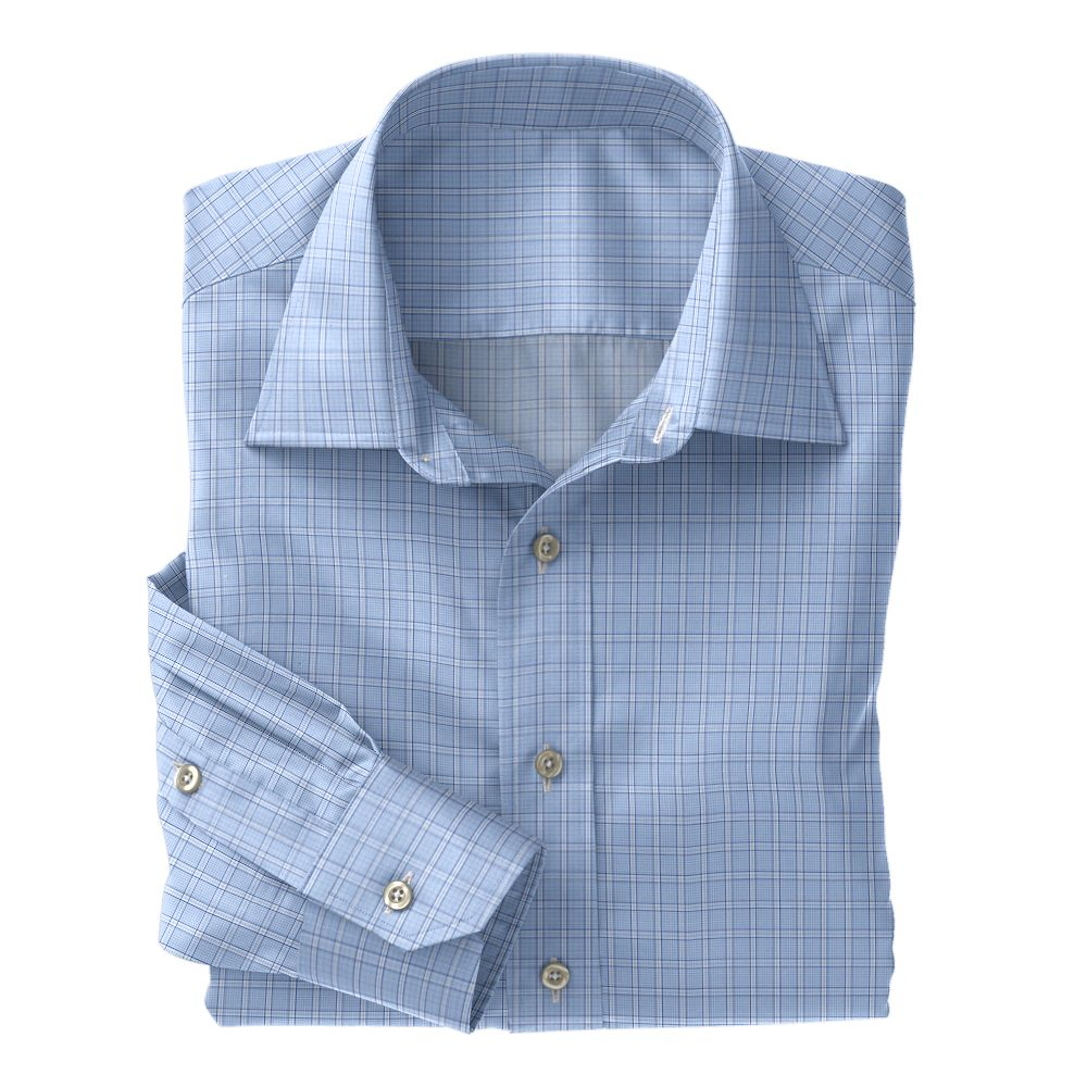 Light Blue Plaid Poplin