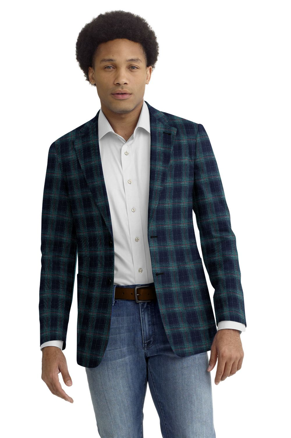 Green Navy Red Plaid