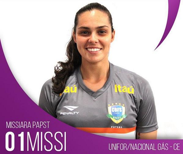 9136dd78eaf21 A catarinense Missi Paspt também é destaque na Seleção Brasileira. Ela  conquistou o seu quarto