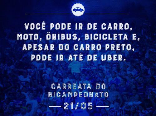 A carreata do bicampeonato estadual do Leão acontece no dia 21 de maio. Foto: Divulgação