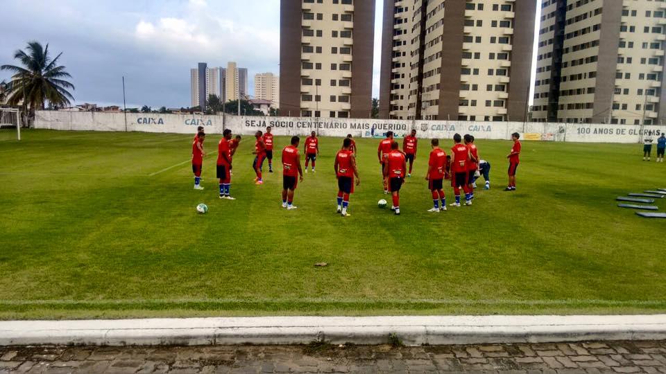 O elenco leonino treinou no CT do ABC (RN) em preparação para a partida desta segunda (06). Foto: Fortaleza/Divulgação