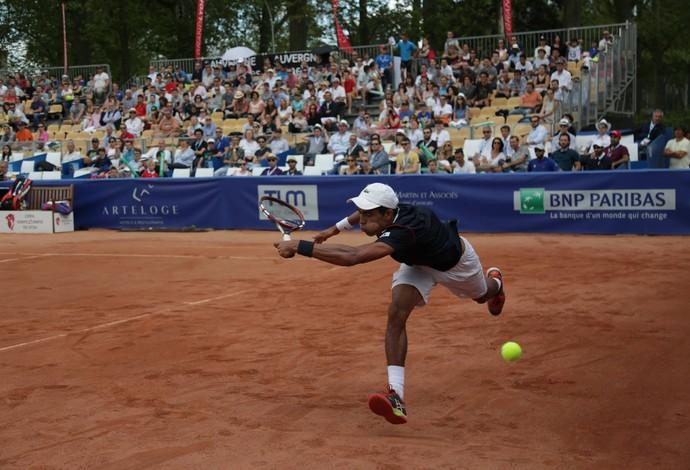 O tenista cearense perdeu a final do torneio para o belga Steve Darcis por 2 sets a 1. Foto: Facebook/Reprodução