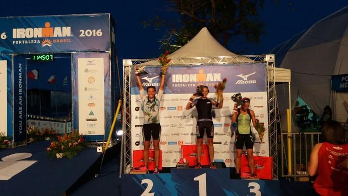 Paula Ponte concluiu a prova em 10h49min46seg. Foto: Divulgação/Ironman Brasil