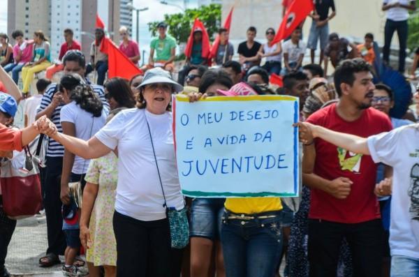 A concentração será no bairro Jangurussu, no antigo lixão, e segue para o bairro Conjunto Palmeiras.  (Imagem: Daniel Macêdo)