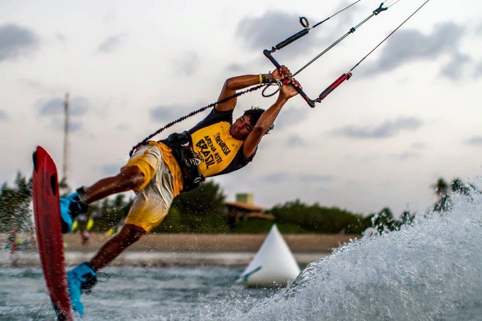 O atleta cearense Carlos Mário participou da primeira edição do evento. (FOTO: João Henrique)