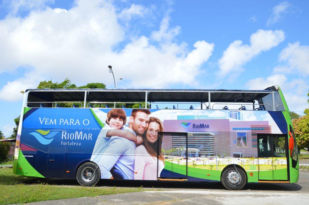 O RioMar Bus está disponível aos turistas de Fortaleza durante o mês de julho. (FOTO: divulgação)