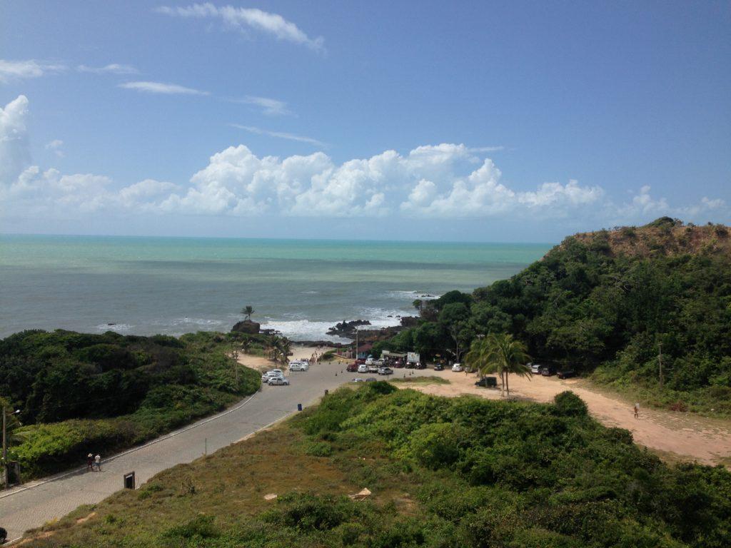 Mirante de Tambaba, de onde podem ser vistas as falésias, a vegetação e o mar. (FOTO: Rosana Romão)