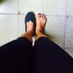 A moça tirou foto provando que a sapatilha era dela (FOTO: Reprodução)
