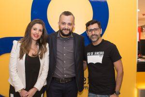 Monica Santana, gerente de marketing da rede Centerplex, Márcio Eli, CEO da Rede Centeplex Brasil e Magela Lima, Secretário Municipal de Cultura
