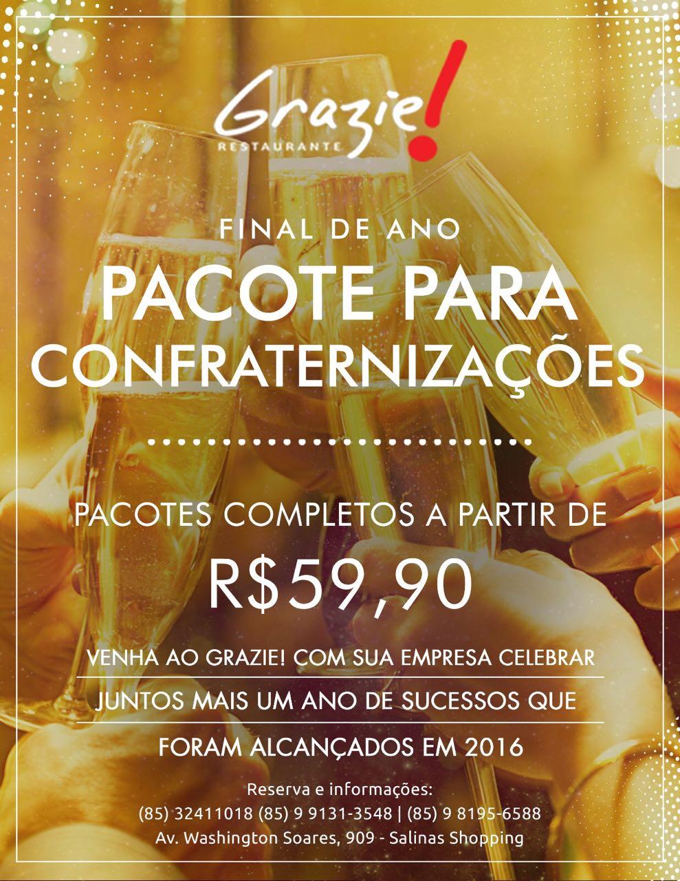Grazie! Restaurante lança pacote para confraternizações c9a168a6ec