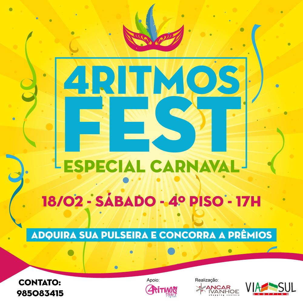 Fevereiro é o mês que recebe o Carnaval e o Via Sul Shopping, pensando na  diversão e no bem-estar de seus clientes, promove o 4Ritmos Fest – Especial  de ... d3c90b80dd