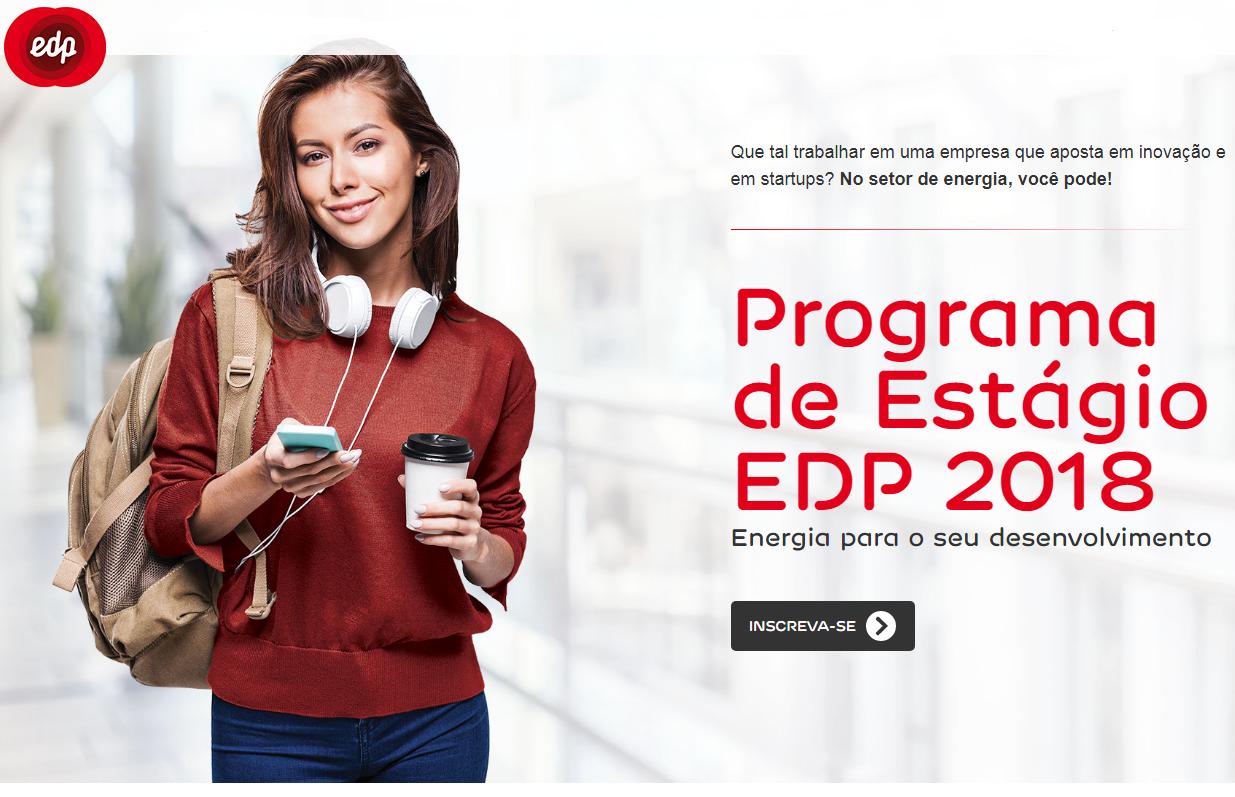 EDP Brasil abre inscrições para Programa de Estágio 2018 bc498a902d5