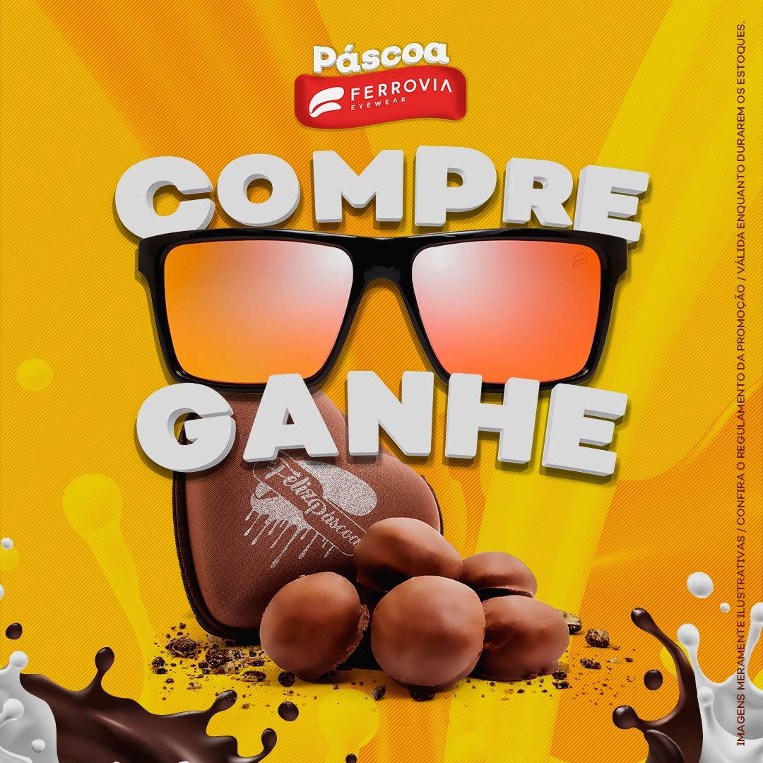 1c1bb44d1b68b Ferrovia Eyewear presenteia seus clientes com chocolates nesta Páscoa
