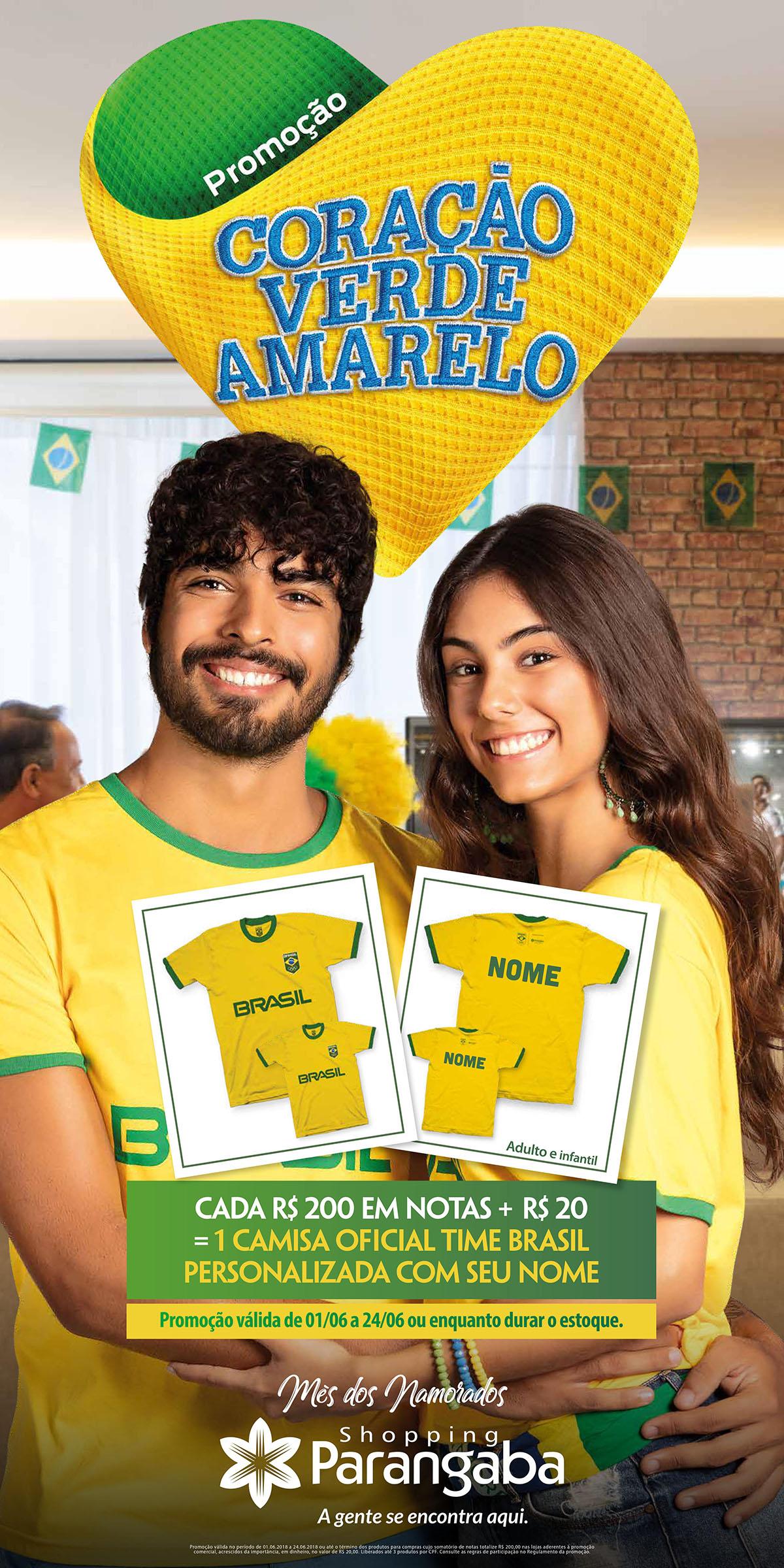 Coração Verde Amarelo  Campanha promocional presenteia casais com ... 943eb3d83d6df