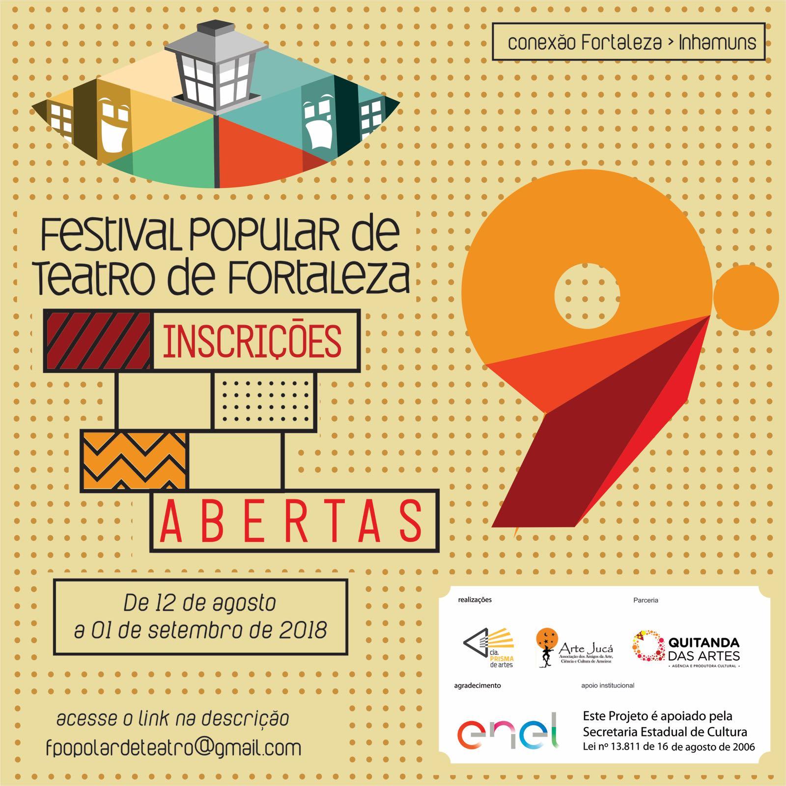 Festival Popular de Teatro de Fortaleza abre inscrições para sua 9ª edição 8f273567043