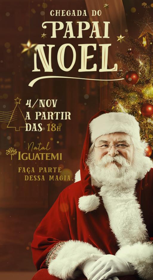 74022dc1b32ec Papai Noel chega no Shopping Iguatemi no dia 04 e abre a programação do  Natal em Fortaleza