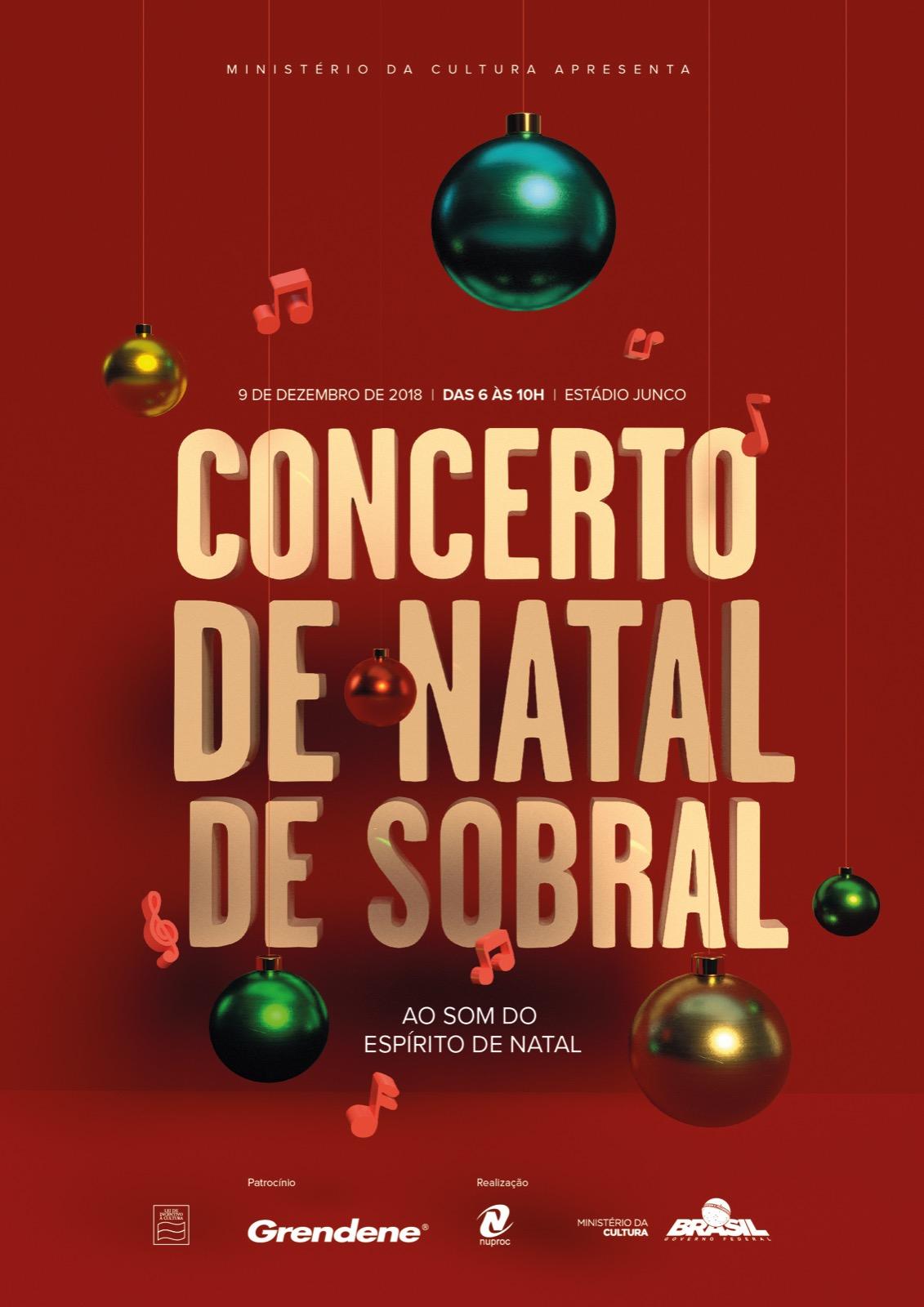 Resultado de imagem para Concerto de Natal de Sobral