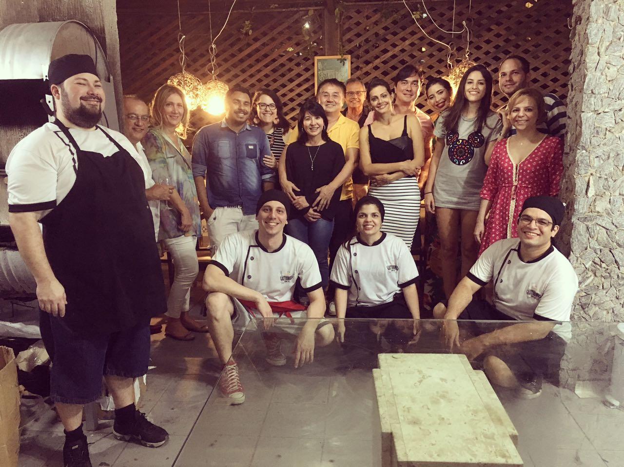 Turma que participou do último Covardia Gastronômica (FOTO: Divulgação)