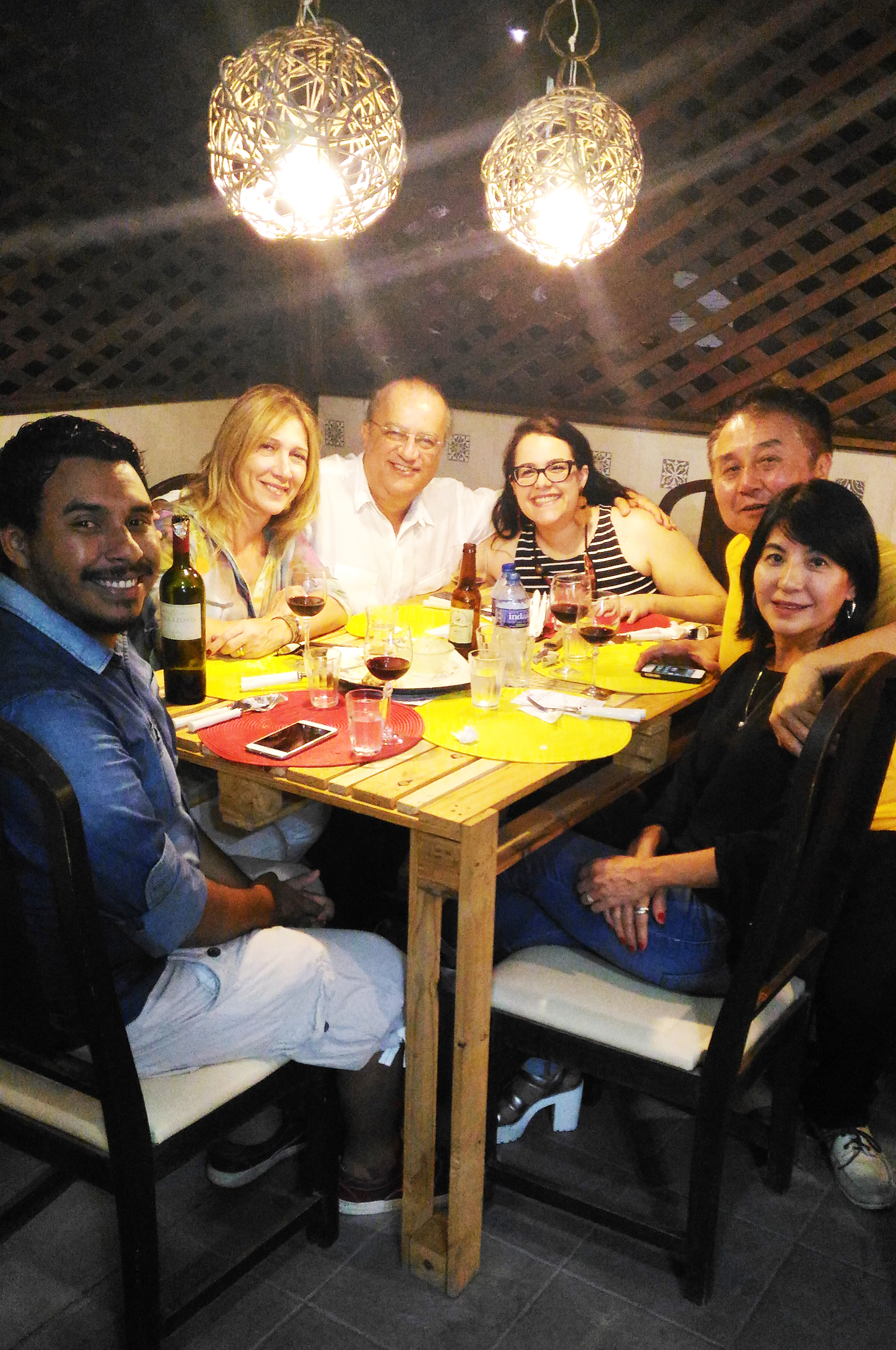Da esquerda pra direita: Elon Nepomuceno, Eliane Marzano, Ruy Lima, Ariane Cajazeiras, Elcio Nagano e Miriam Kina