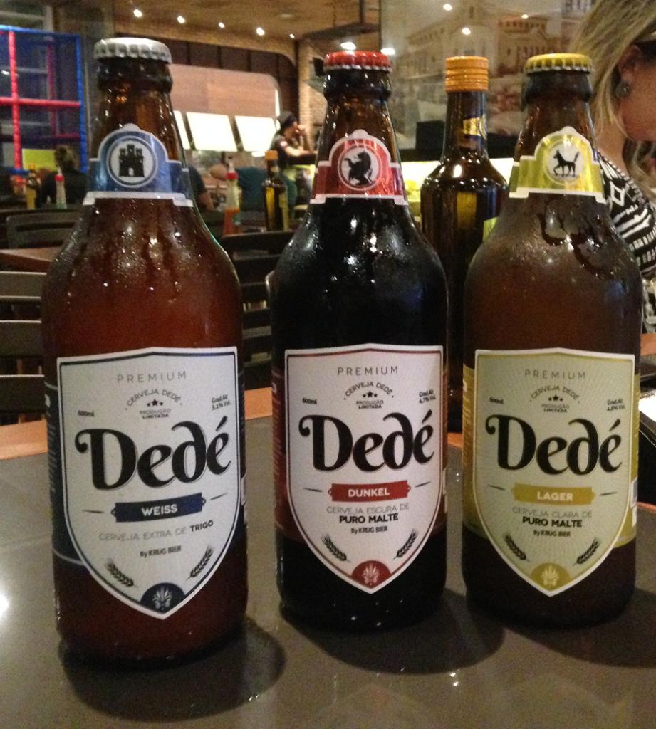 Trio de cervejas Dedé