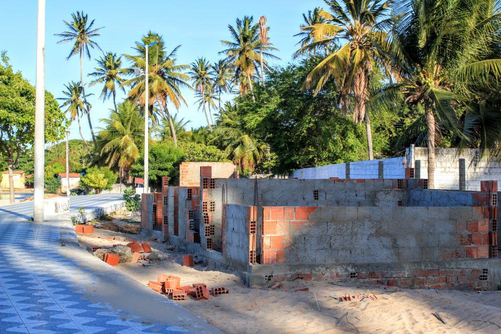 Obras no Calcadão da Beira Mar de Paracuru