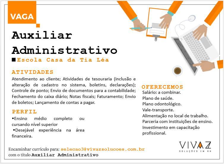 Auxiliar Administrativo - Vagas Online