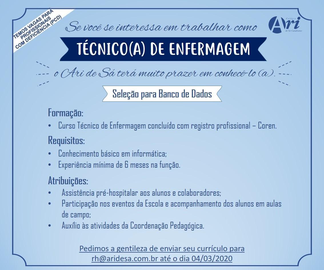 Tecnico De Enfermagem Archives Vagas Online
