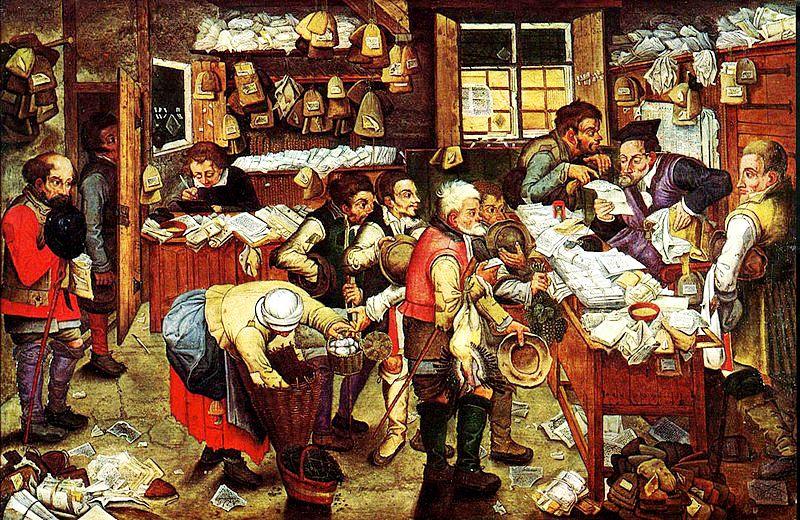 O pintor Pieter Bruegel, o Jovem, já anunciava em 1616 as inovações que seriam adotadas pela Sefaz em 2016, na obra 'O Cobrador de Impostos'