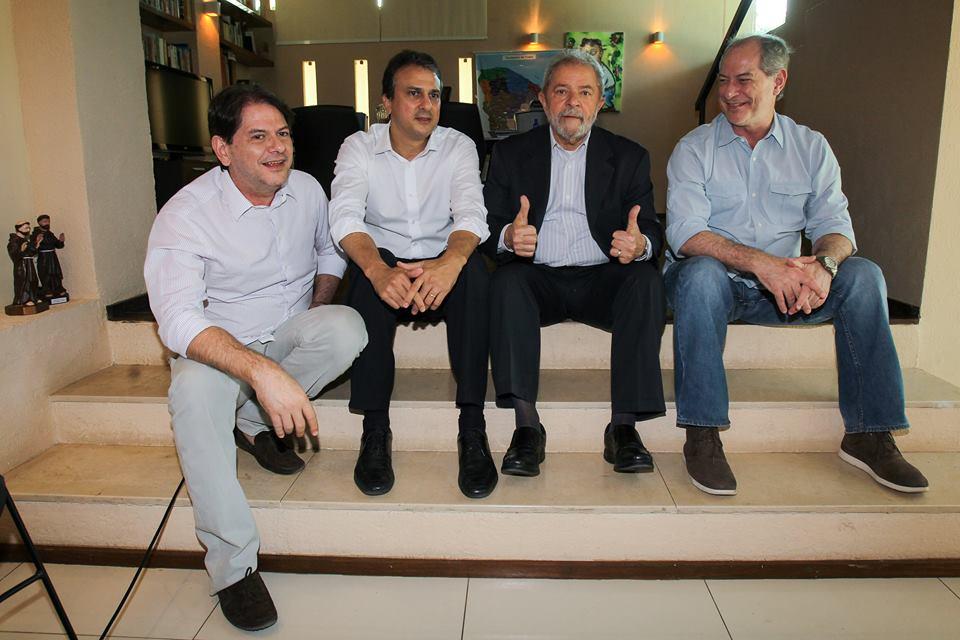 Lula publicou a foto, mas Cid, Camilo e Ciro não compartilharam. Coisas do momento... (Instituto Lula)
