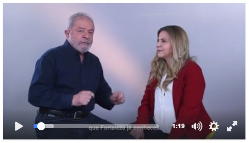 Lula, réu por corrupção, lavagem de dinheiro e obstrução da justiça, pede votos em Fortaleza