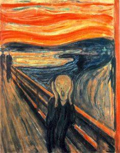 Passa eleição, volta eleição, o medo da violência é um estado permanente. Imagem: O Grito, de Edvar Munch