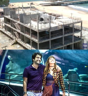 No Ceará, o aquário, obra pública, parece com escombros de filmes de guerra. No Rio, o aquário, obra privada, é cenário de novela. Pois é.
