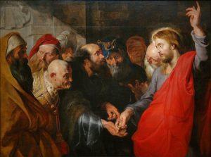 """""""Dinheiro de César"""", por Rubens, Século XVII - Jesus já pregava a separação entre Estado e religião"""