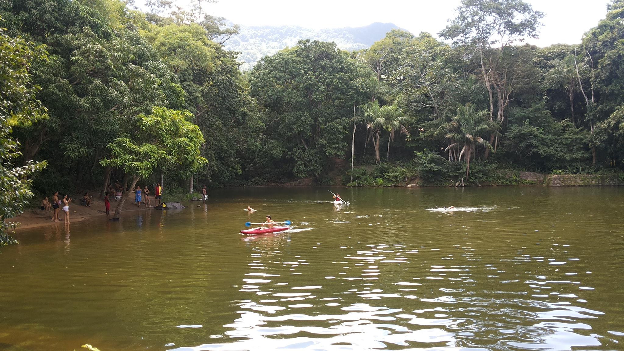 Lago do Cascatinha Clube de Serra, em Maranguape. Foto Dadynha Saturnino