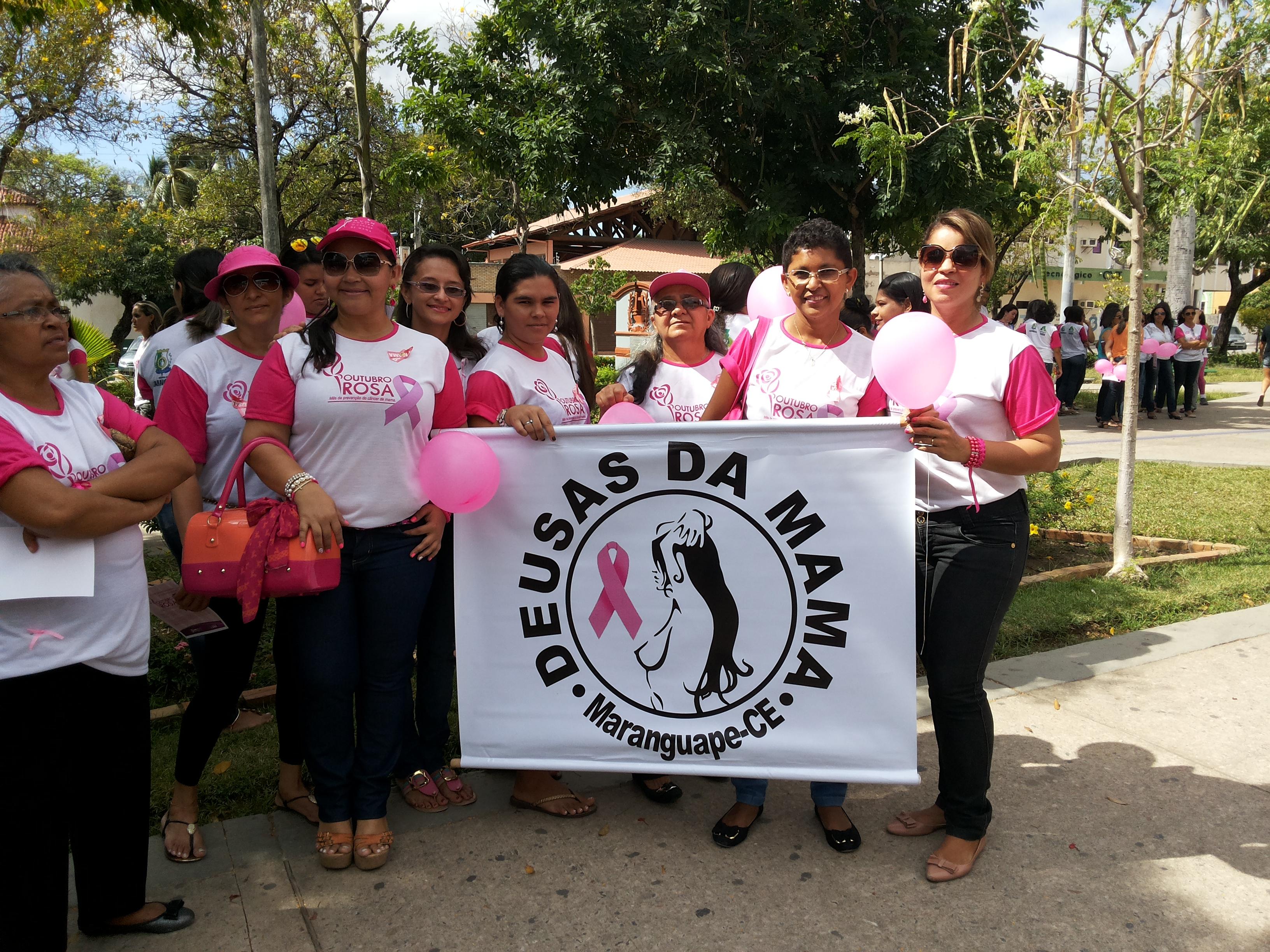 Associação Deusas da Mama é destaque por promover a importância do diagnóstico precoce do câncer de mama nas pessoas de Maranguape. Arquivo pessoal.