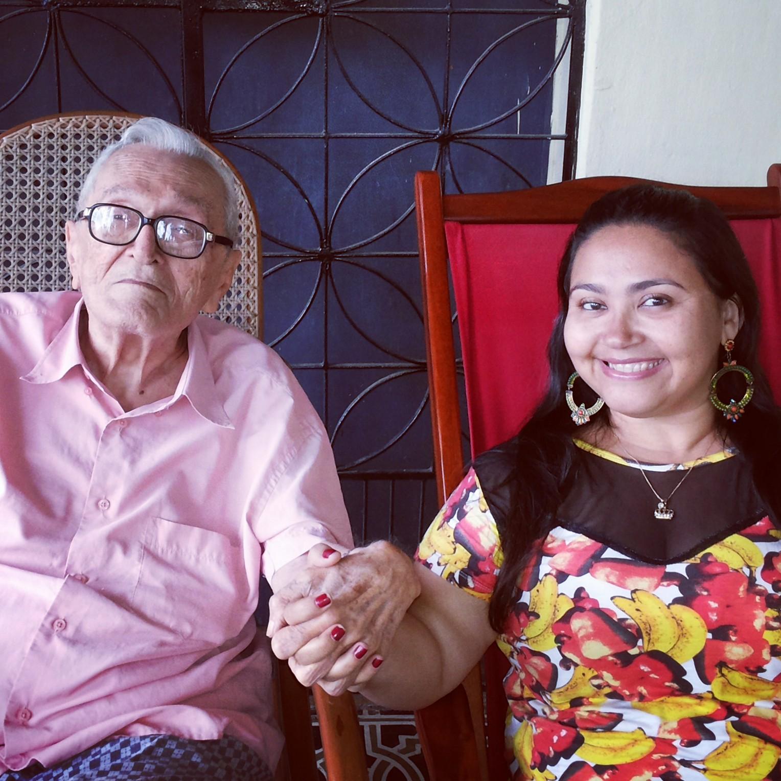 Monsenhor Mauro e Dadynha Saturnino. Arquivo pessoal