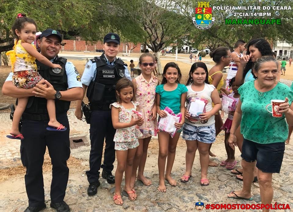 PM Maranguape realiza ação de cidadania para crianças.Divulgação