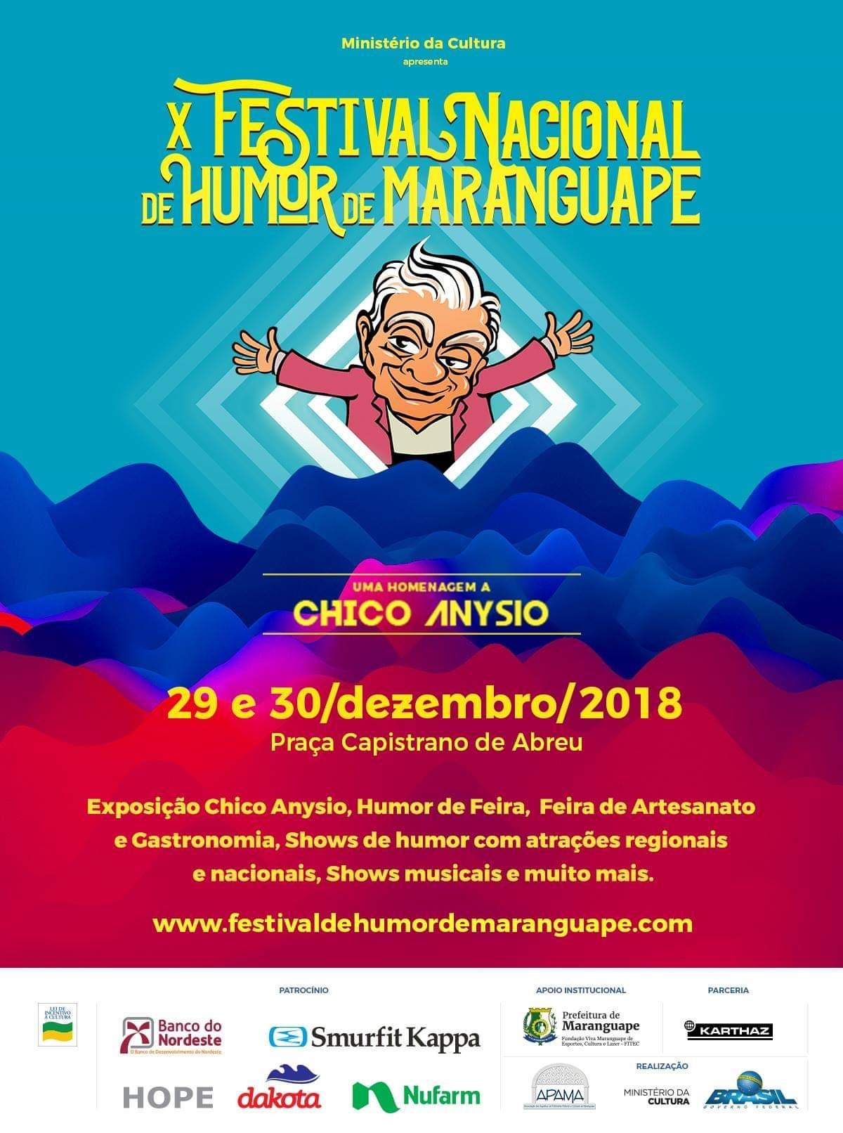Festival Nacional de Humor de Maranguape. Divulgação