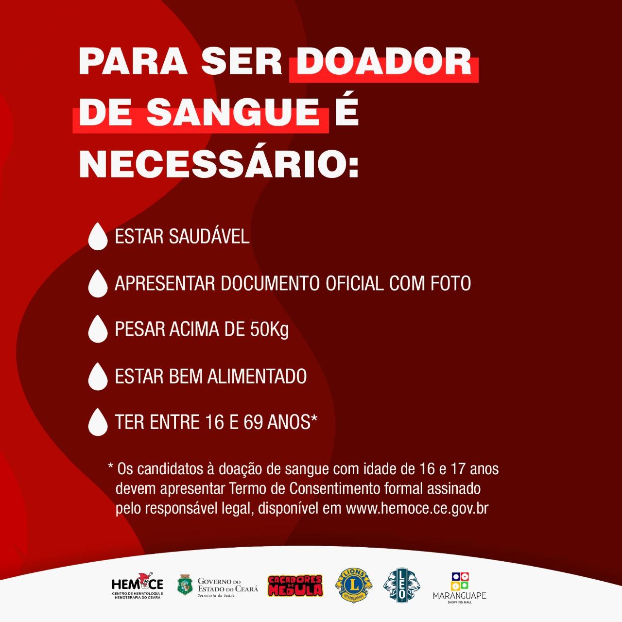 III Campanha Doe Vida em Maranguape. Divulgação