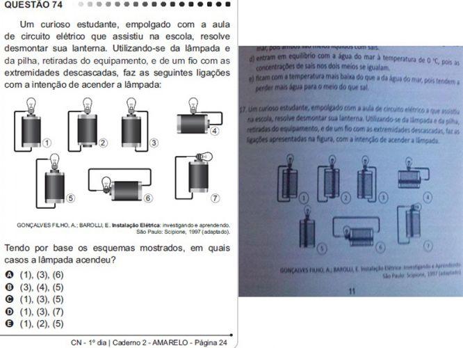 Professor usou questões em simulado antes da aplicação do Enem (FOTO: Reprodução)