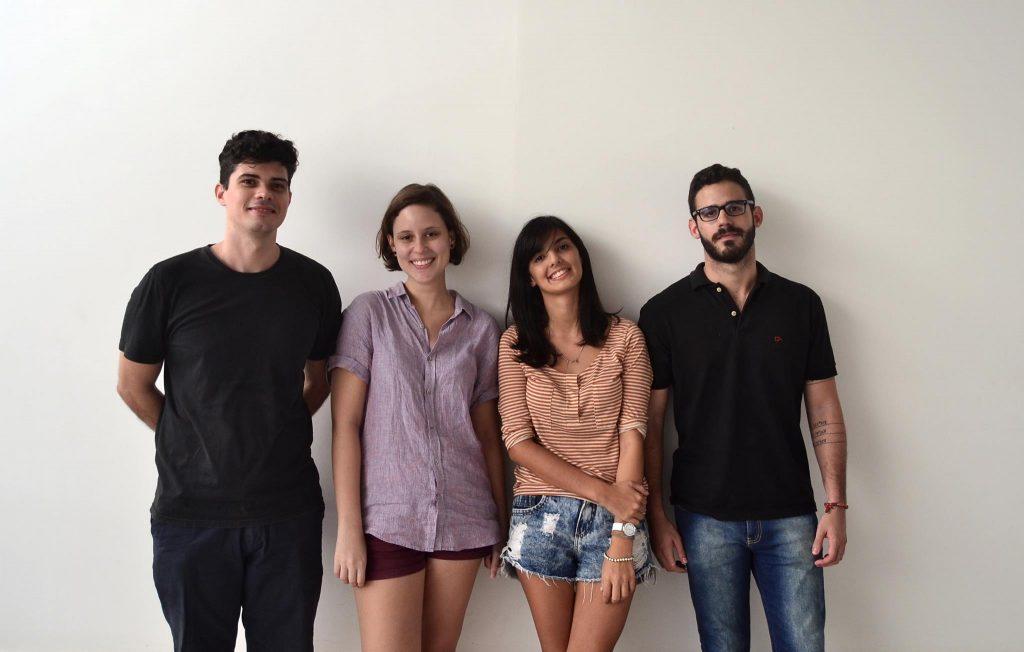 Em apenas um mês os quatro jovens idealizaram e realizaram o projeto. (FOTO: Reprodução/ Arquivo Pessoal)