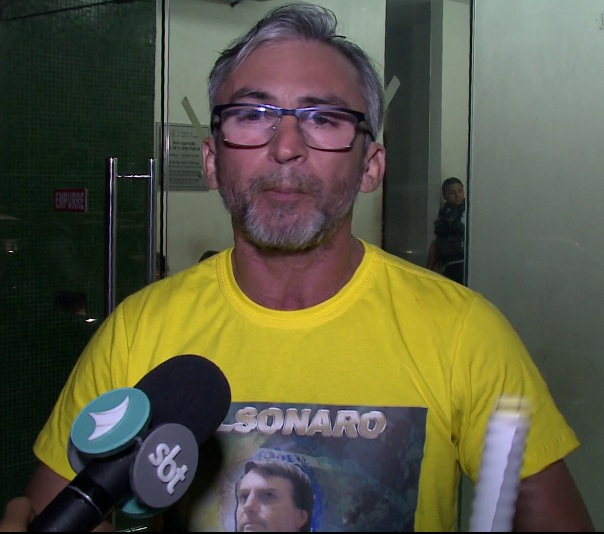 Estudante Jorge Fontenele registrou Boletim de Ocorrência após a confusão (FOTO: Reprodução TV Jangadeiro)