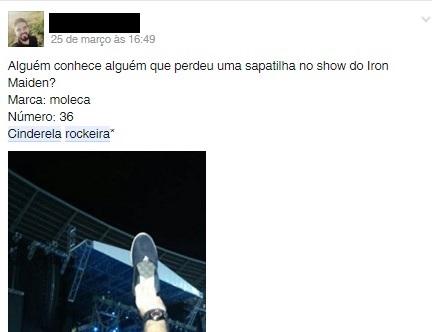 Cinderela Rockeira foi encontrada após grande campanha on-line (FOTO: Facebook)