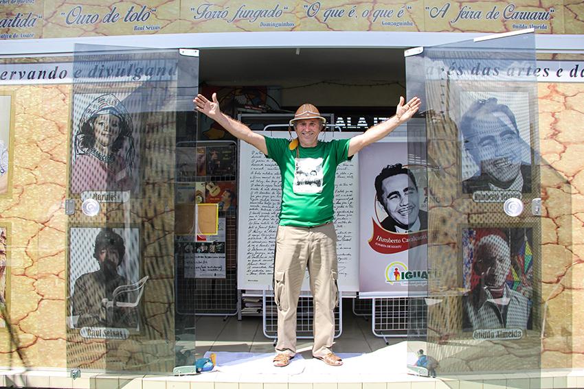 Marcelo Leal escreveu três livros sobre a vida e a obra de Luiz Gonzaga. (FOTO: Fernanda Moura/Tribuna do Ceará)