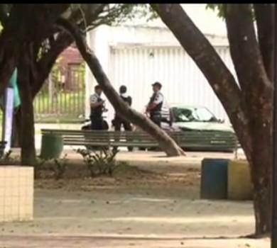 Polícia apreendeu adolescente que teria envolvimento no crime da morte do juiz (FOTO: Reprodução TV Jangadeiro)